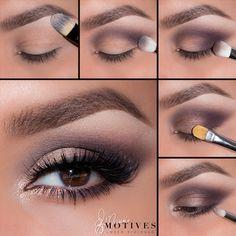 Motives Cosmetics - Augen Make Up Anleitung Dark Eye Makeup, Dramatic Eye Makeup, Eye Makeup Steps, Hooded Eye Makeup, Colorful Eye Makeup, Natural Eye Makeup, Colorful Eyeshadow, Hooded Eyes, Makeup 101