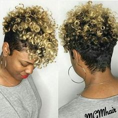 Luna 005 Best Design Short Curly Tapered Hair Wig for Women