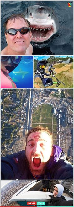 of the Most Insane Selfies That Will Make Your Stomach Drop - bemethis Funny Fails, Funny Jokes, Hilarious, Stupid People, Funny People, Funny Picture Quotes, Funny Photos, People Photography, Amazing Photography