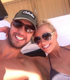 """Luke Bryan (with wife Caroline Boyer): """"Chillin Country Men, Country Girls, Luke Bryan Wife, Caroline Bryan, Best Country Singers, Bae, Shake It For Me, Entertainer Of The Year, George Jones"""