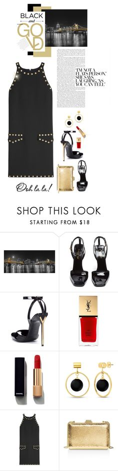 """Black and Gold...Ooh La La !!!"" by shortyluv718 ❤ liked on Polyvore featuring Yves Saint Laurent, Chanel, BERRICLE, Moschino, MICHAEL Michael Kors and Lumière"