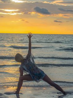 Anne in #sideangle variation in Long Beach, Koh Rong, Cambodia.  #yoga #yogapose #sunset #longbeach #cambodia #yogaeverydamnday