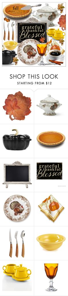 """Group Contest!  November Home!"" by calamity-jane-always ❤ liked on Polyvore featuring interior, interiors, interior design, home, home decor, interior decorating, Fitz & Floyd, Williams-Sonoma, Staub and Couleur Nature"