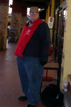 """""""Salvation Army bellringer."""" -Cheryl K. #patience #watchandwait"""