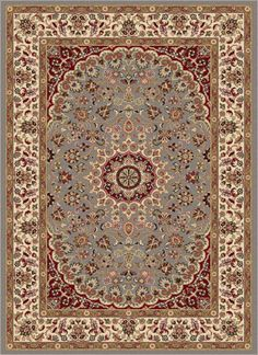 blue oriental medallion 8x10 area rug border persian carpet actual