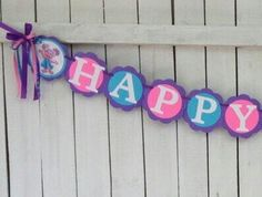 Abby Cadabby Birthday Banner Abby Cadabby by MerryMakersPapier First Birthday Parties, 3rd Birthday, First Birthdays, Birthday Ideas, Abby Cadabby, Sesame Street Party, Thalia, Elmo, Favor Tags