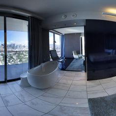 The Palms hotel in Las Vegas --- one of the coolest suites I've ever stayed in