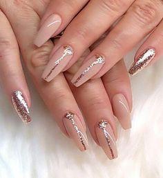 Hermoso y delicado color de uñas. Perfecto para bodas de primavera 💜 - #fruhlings ...