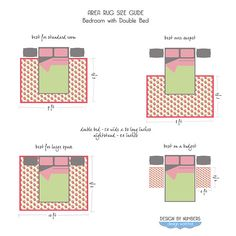 How To Position Area Rug In A Bedroom   Google Search