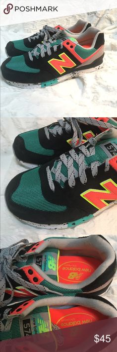 NWT New Balance sneakers size 9.5 retro neon These retro New Balance have neon accents and are a ladies size 9.5. Brand new. Very unique. New Balance Shoes Athletic Shoes