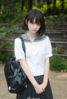 Check out these Japanes theme cosplay characters. Asian Cute, Cute Asian Girls, Cute Korean, Sweet Girls, Korean Girl, Cute Girls, Cute Japanese Girl, Japanese School, Japonese Girl