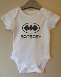 Batbaby batman bodysuit film slogan retro by TwinkleJellyDesigns, £5.49