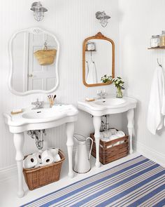Not Everything Has To Be Matchy Matchy When It Comes To Decor! Thereu0027s So  Much Farmhouse Charm In This Bathroom, Especially When It Comes To The  Mismatched ...
