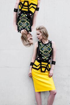 Collection No.1 by Dominika Syczyńska, graduate of Fashion School SAPU. #SAPUkraków #fashionschool