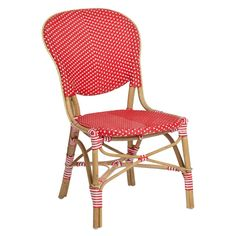 Enjoy a morning cup of coffee and danish on #SikaDesign #ISABELL_BISTRO #SIDE #CHAIR (poppy red). It is also available in an arm chair version to mix and match around your favorite #table. This is part of the #Affaire collection.The Affaire collection is a combination of the amazing natural resource, Rattan and the fantastic man-made synthetic fiber.  Available in 4 color combinations at, http://www.sika-design.us/collections/affaire/products/isabell-bistro-side-chair