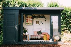 The humble garden shed may hold the key to contentment. of shed… The humble garden shed may hold the key to contentment. of shed… Garden Huts, Garden Cabins, Garden Sheds Uk, Backyard Studio, Garden Studio, Summer House Garden, Home And Garden, Summer House Decor, Small Summer House