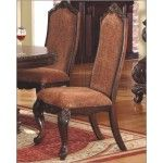 $448.00  McFerran Home Furnishings - Traditional Dining Room Chair in Cherry (Set of 2) - MCFRD9088-CS