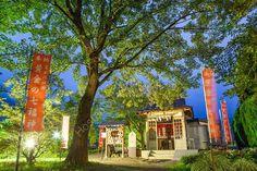 Temple, Lake Kawaguchi, Kawaguchi-ko, Yamanashi Prefecture, Japan.  www.MartinBakerPhotography.com