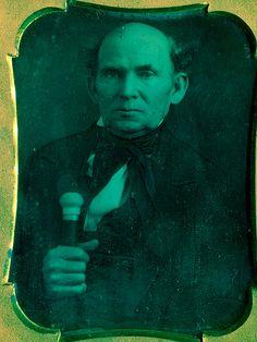 older man gripping cane daguerreotype | Flickr - Photo Sharing!