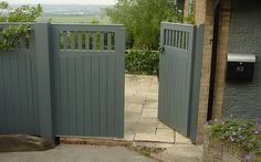 Wooden Gates For Sale - Wooden gates are both beautiful and practical. Gates which help to safeguard their house by making Wooden Side Gates, Wooden Garden Gate, Garden Doors, Wooden Gate Designs, Gates For Sale, Fence Gate Design, Door Design, Herb Garden Design, Farmhouse Garden
