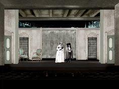 Bozzetti di Federico Cautero - I Rusteghi in scena, in prima nazionale, al Teatro Romano di Verona in occasione dell'Estate Teatrale Veronese 2015 dal 9 al 14 luglio.