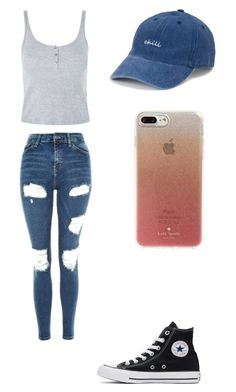 """It's summer outfit"" by fungiral on Polyvore featuring Topshop, Converse, SO and Kate Spade"
