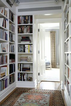 Hallway Library - love this idea