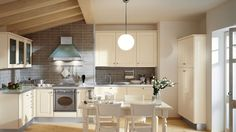 Glossy turtledove grey and glossy coconut white cabinets