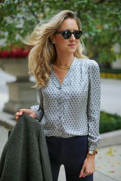 23 Looks with Fashion Blouses Glamsugar.com fashion blog for professional women new york city street style work wear