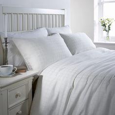Windowpane Check White Bedding