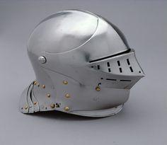 Helmet by Lorenz Helmschmid, Augsburg, 1490-95. Owned by Maximilian I. KHM Vienna