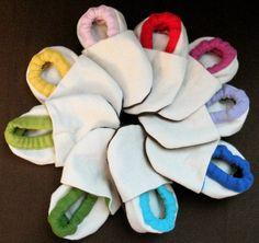 Tutti Frutti Organic Cotton  Canvas Soft Shoes by MoyasOrganicBaby, $12.00