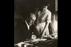 October 2, 1919: President Woodrow Wilson suffers debilitating stroke. For the rest of his term Wilson pretty much stayed out of sight from his Vice President, Thomas R. Marshall, the Cabinet, and Congress members. Meanwhile, for all practical purposes, Edith ran the country.