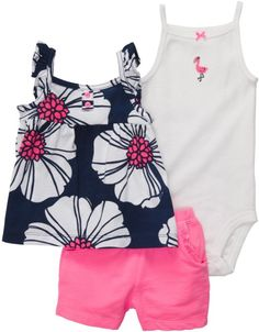 Carter's Baby Girls' Set ** Trust me, this is great! Click the image. Carters Baby Girl, My Baby Girl, Toddler Girl, Baby Girls, Infant Girls, Outfits Niños, Kids Outfits, Baby Girl Fashion, Kids Fashion