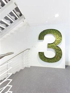 green method of environmental graphics & wayfinding Office Signage, Wayfinding Signage, Signage Design, Hotel Signage, Environmental Graphic Design, Environmental Graphics, Commercial Design, Office Interiors, Tool Design