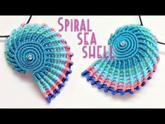 Macrame tutorial - The simple spiral seashell for keychain or pendant - Hướng dẫn thắt vỏ ốc xoắn - YouTube