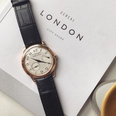 The Perfect Saturday // An F. P. Journe Chronomètre Souverain in rose-gold // Coming soon to http://ift.tt/1qIwSwQ