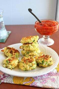 Zucchini Cakes by mama grubbs grub Side Dishes Easy, Side Dish Recipes, Veggie Recipes, Appetizer Recipes, Vegetarian Recipes, Cooking Recipes, Healthy Recipes, Party Appetizers, Clean Recipes