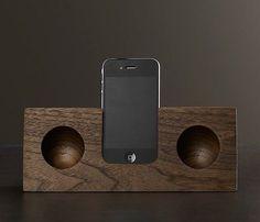 Truffol.com | Walnut iPhone speaker dock.