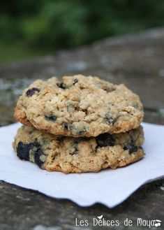 Les délices de Maya: Biscuits bleuets et avoine Biscuit Cookies, Yummy Cookies, I Love Food, Good Food, Blueberry Recipes, Cookie Desserts, Food To Make, Sweet Treats, Bakery