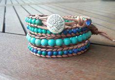Mixed tyrqoise / howlite Blue Green, Bracelets, Jewelry, Jewlery, Duck Egg Blue, Jewerly, Schmuck, Jewels, Jewelery