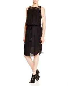 Joie Tyvette Lace Trim Dress