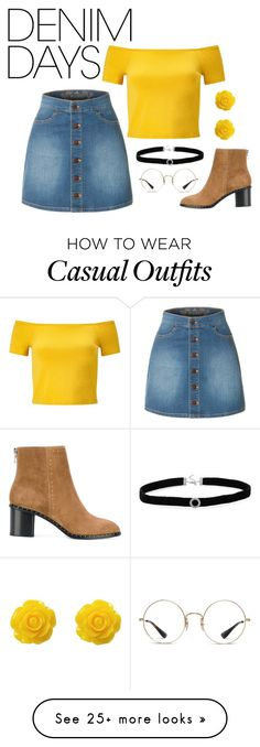 """""""denim days"""" by silvia-ru on Polyvore featuring LE3NO, Collectif, Miss Selfridge, rag & bone, Lacoste, BillyTheTree and denimskirts"""