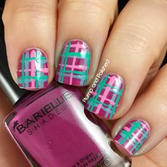 Giveaway and great nail art by Plump and Polished!  http://www.plumpandpolished.com/2014/08/barielle-perfect-manicure-and-giveaway.html