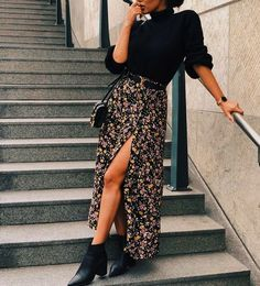 Autumn outfit🌹 shared by Cristina 🌹 on We Heart It Cute Fall Outfits, Winter Fashion Outfits, Fall Winter Outfits, Autumn Fashion, Mode Outfits, Skirt Outfits, Trendy Outfits, Stylish Outfits, Looks Street Style