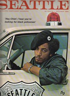 "reverieseattle:    Aaron Dixon, leader of the Seattle Black Panther party, 1968  ""Hey Chief, I hear you're looking for black policemen."""