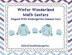 Winter Wonderland Math Centers (from Tiffani Mugurussa on TpT)
