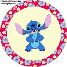 Lilo and Stitch Hawaiian - Full Kit with frames for invitations, labels for snacks, souvenirs and pictures! | Making Our Party