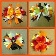 Thanksgiving/Autumn Bows on Etsy, $8.00