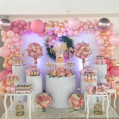 Ideas baby shower ides decoracion pink balloon decorations The Effective Pictures We Offer You About Balloon Decorations wall A quality picture can tell you many things. You can find the most beau Balloon Decorations Party, Balloon Garland, Birthday Party Decorations, Baby Shower Decorations, Birthday Parties, Wedding Decorations, Shower Party, Baby Shower Parties, Baby Shower Themes
